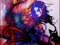 Naked lady stencil graffiti street art inspired Banksy