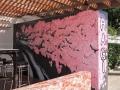 hua hin sakura tree fine art mural