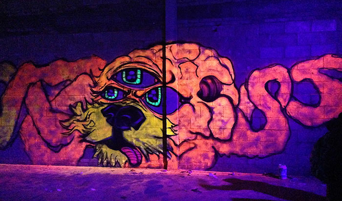 Vinni Kiniki Black Light Artist Alien Octopus Hybrid