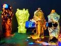 UV black light reactive neon sculpture artworks by Vinni Kiniki