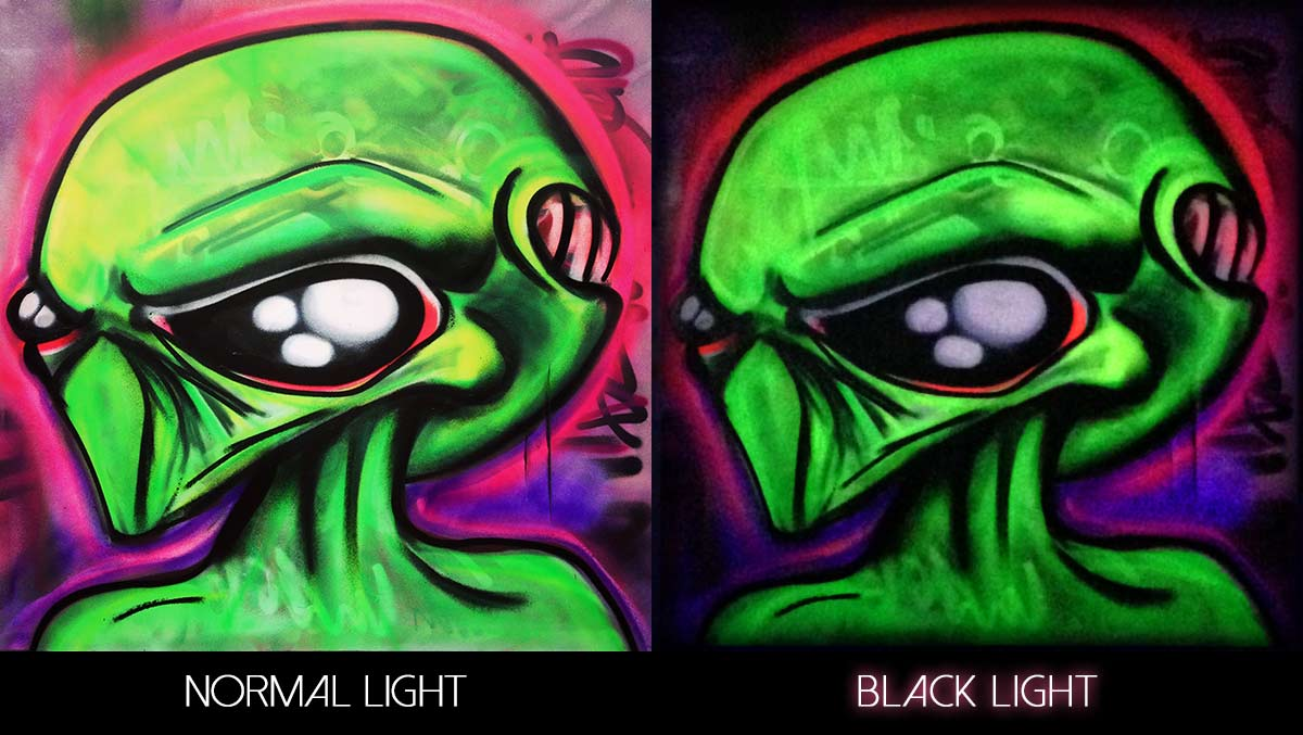 How To Use Black Light Paint 100 Images How Cool Is That Glow In The Dark Paint Under