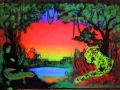 blacklight jungle mural graffiti