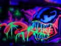 venom black light graffiti art