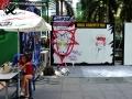 Public graffiti tag wall Bangkok Thailand