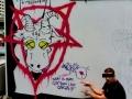 satan pentagram street art character vinni kiniki bangkok thailand