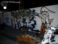 live graffiti demo by street artist boher oner