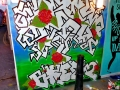 Neotopia graffiti street art mural brick lane artist vinni kiniki