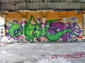 vinni kiniki alien graffiti squid street art