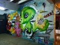 alien art graffiti mural by vinnikiniki
