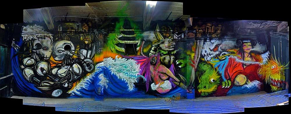 Vinni kiniki graffiti mural artist for hire street art for Graffiti mural