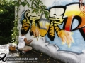 Photo Bangkok Thailand graffiti street art Thai artist Tiger