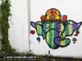 Photo Bangkok Thailand graffiti street art Thai artist Elephant