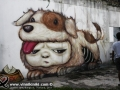 Photo Bangkok Thailand graffiti street art Thai artist Alex Mardi Mr Face