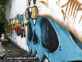 Photo Bangkok Thailand graffiti street art Thai artist AMP Phai