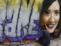 Photo Bangkok Thailand graffiti street art Thai artist realistic portrait