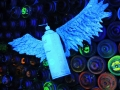 spray can with wings spray can sculpture art toy
