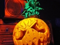 black light halloween pumpkin