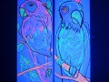 uv art bird painting