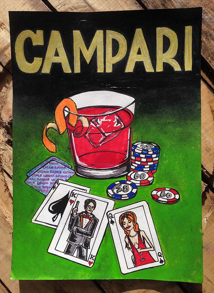 campari poster art James Bond casino royale
