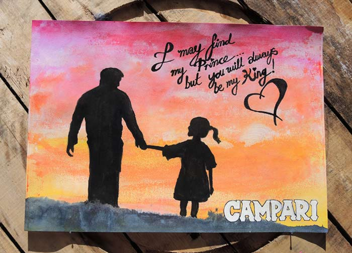 Campari poster art fathers day
