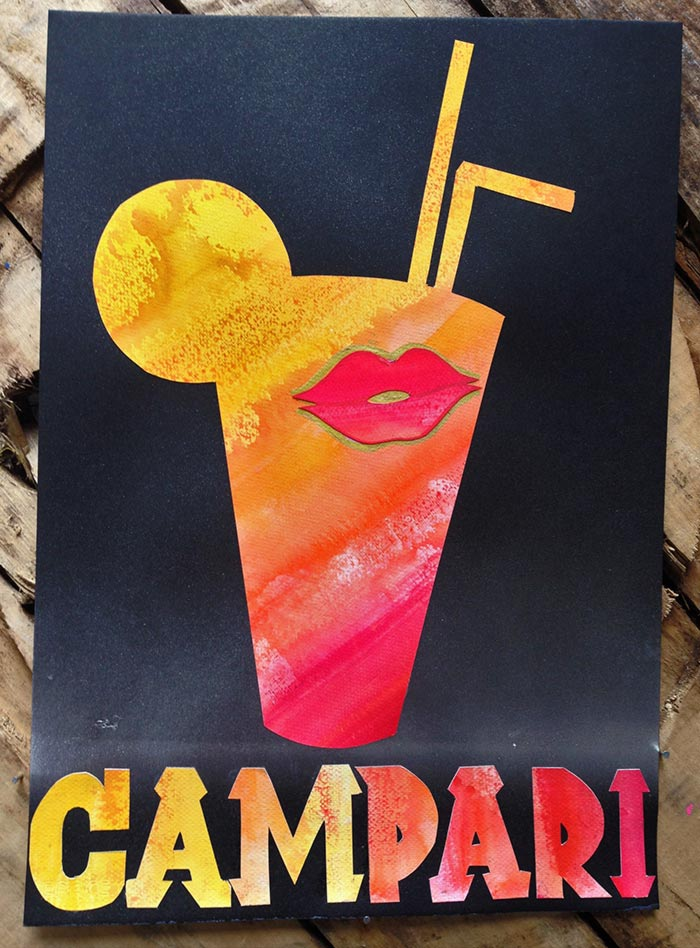 Campari poster art by Vinni Kiniki