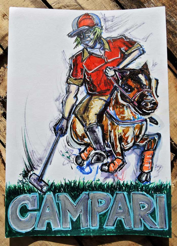 Campari poster art polo