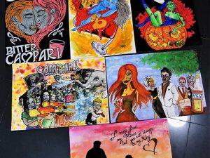 Campari poster art commission – illustrations by Vinni Kiniki