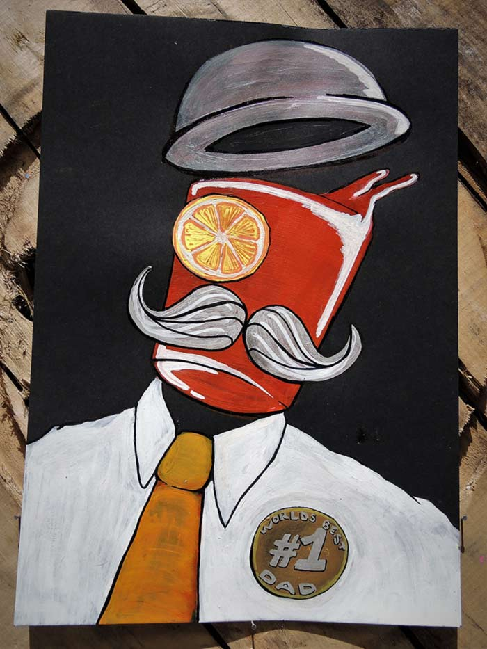 Campari poster art fathers day by Vinni Kiniki