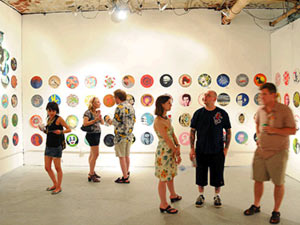 Stencil Art Portraits on Vinyl exhibition in Detroit
