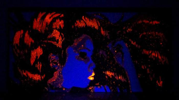 black light portrait