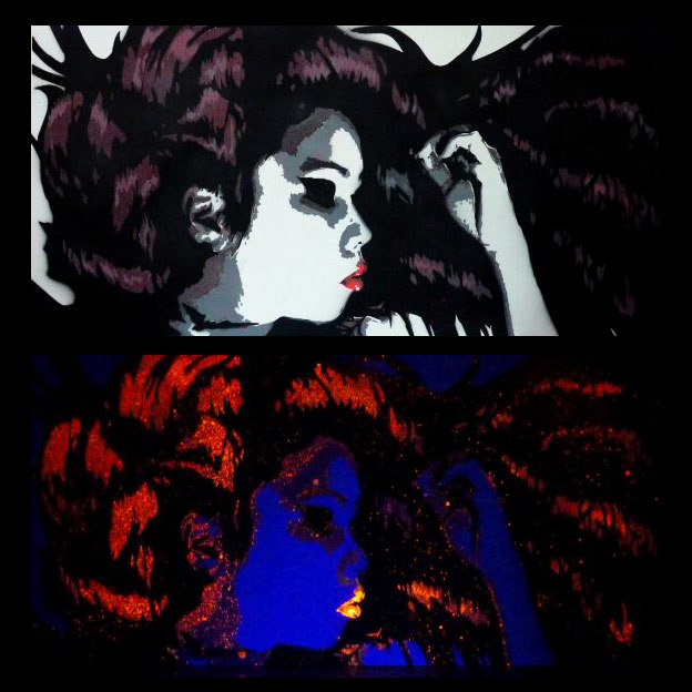 black light portrait art