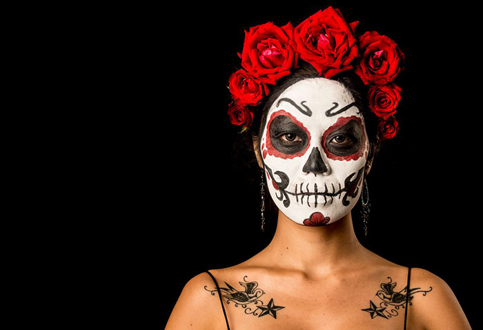 vinnikiniki sugar skull face paint thai model rogue seraphim
