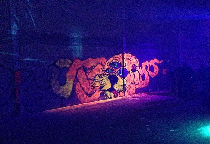 Vinni kiniki graffiti mural artist for hire graffiti for Black light mural
