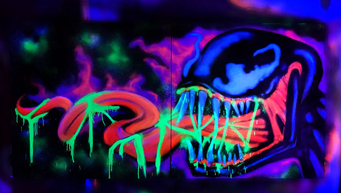 black light Venom graffiti art