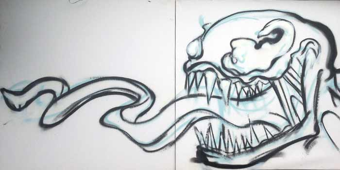 venom graffiti outline