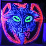 black light graffiti art wallpaper high resolution by vinni kiniki baphomet graffiti