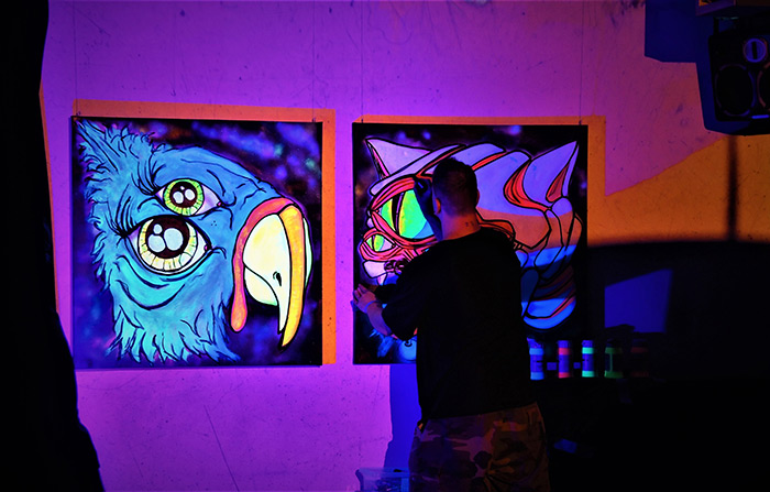 vinni kiniki live painting artist london