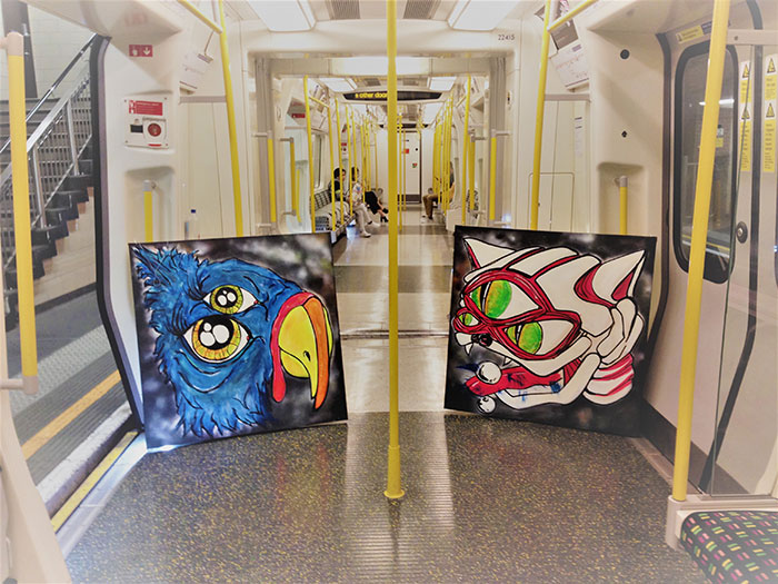 canvas displayed on the london underground