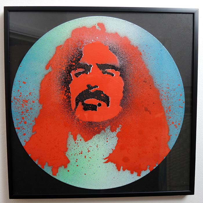 frank zappa stencil on vinyl vinni kiniki