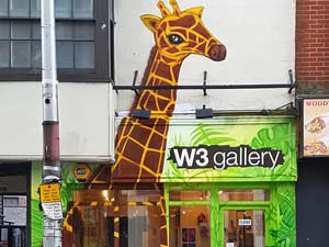 Street Art Giraffe in the Graffiti Jungle