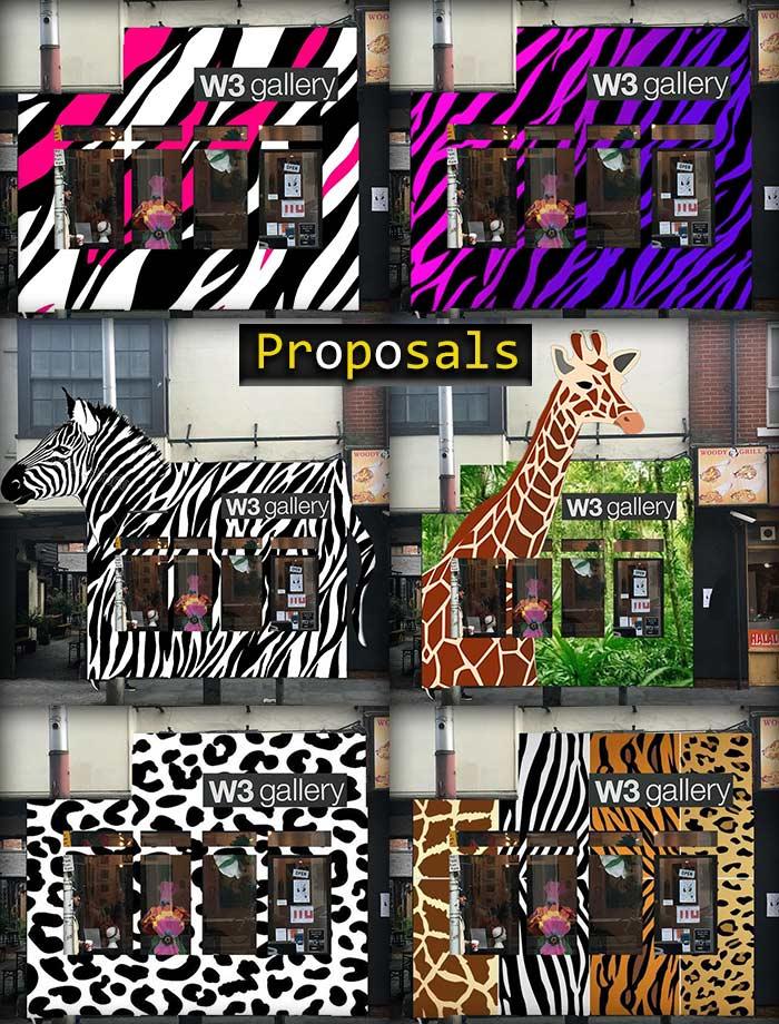 graffiti proposal pieces of street art nature theme zebra and giraffe
