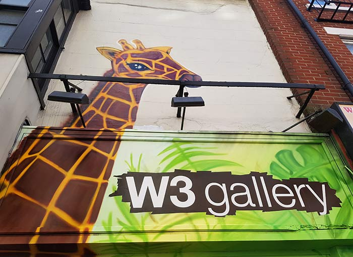 giraffe pattern graffiti mural street art
