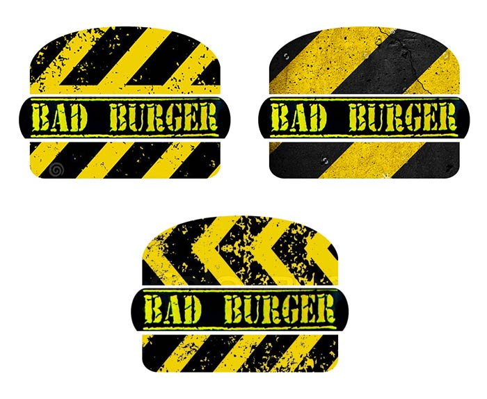 logo design for Bad Burger bar in Bangkok