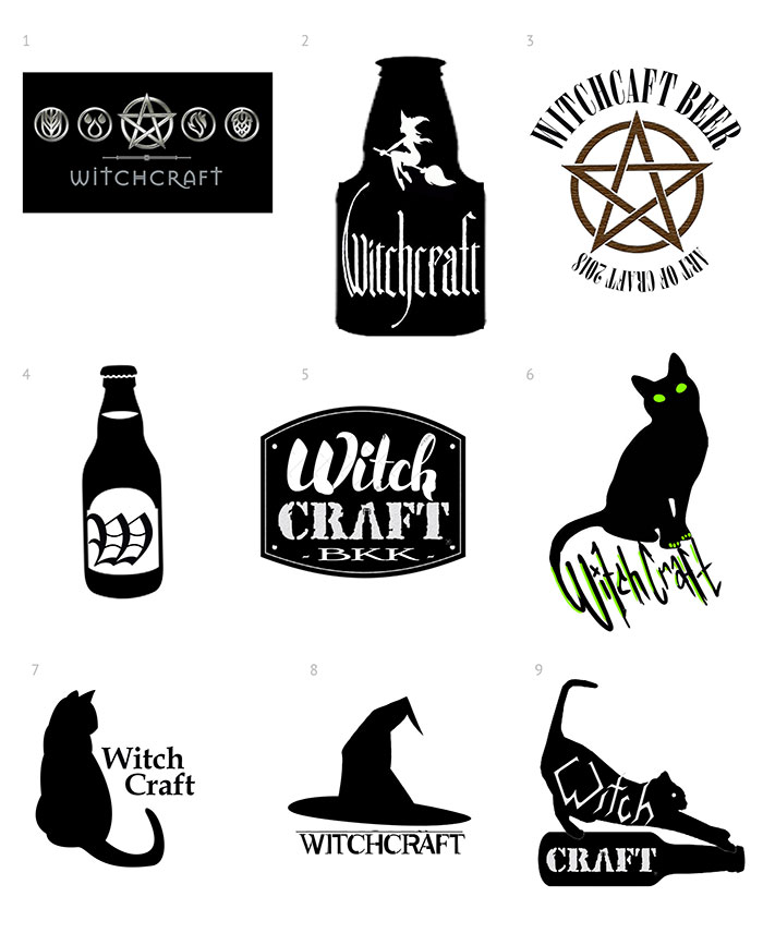 Logo design for Witch Craft Beer Bar in Bangkok