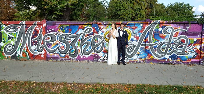 wedding graffiti shoot