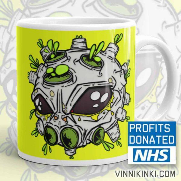 Alien virus conspiracy coffee mug