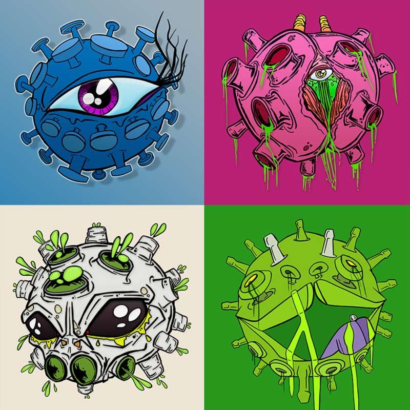 Coronavirus inspired art series by Vinni Kiniki