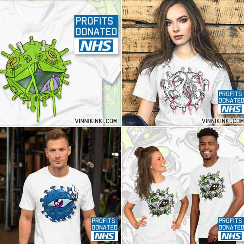 Coronavirus inspired charity t-shirts