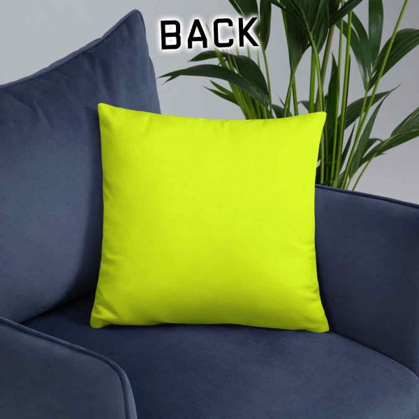 neon yellow cushion back