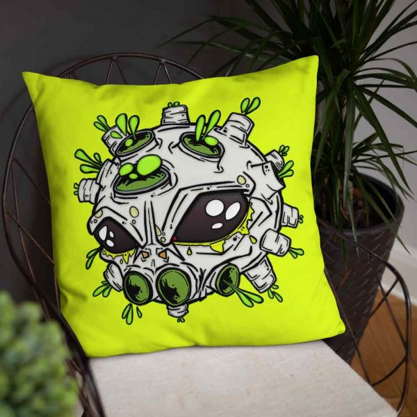 Neon Alien Virus Pillow Cushion